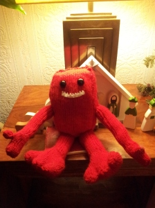 Here's one I made for a friend's daughter from Rebecca Danger's Knitted Monsters books...I love him!