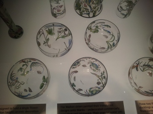 Beautiful China on display in the Rennie Mackintosh room.