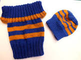 This is what I'll be knitting for the fish and chips babies.