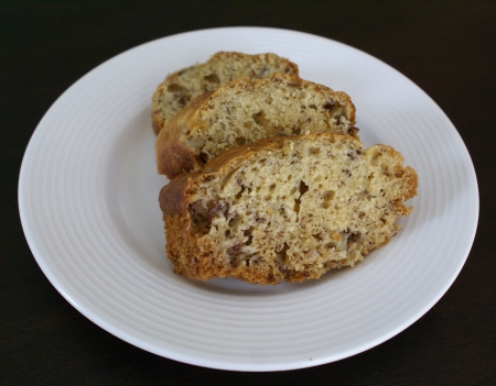 Banana bread - yum! Again not my pic and not the bread I make, but it's close!
